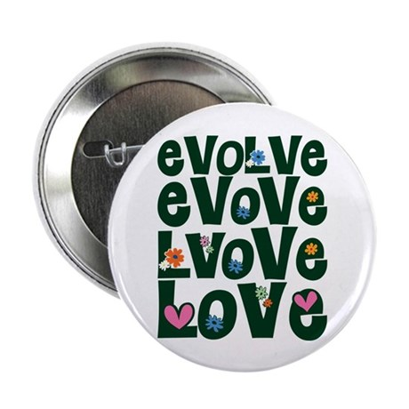 Evolve Whimsical Love 2.25 Inch Buttons ~ Pack of 10