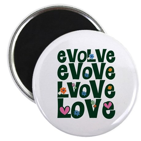 Evolve Whimsical Love Round Magnet