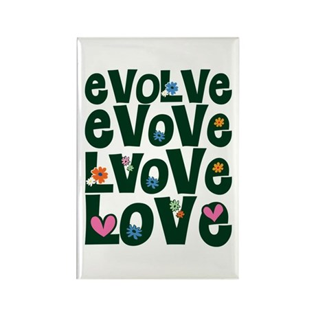 Evolve Whimsical Love Rectangle Magnets ~ Pack of 100