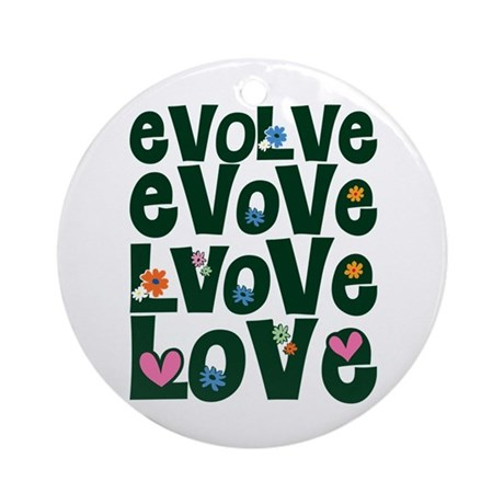 Evolve Whimsical Love Round Ornament
