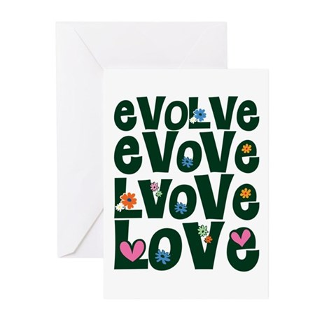 Evolve Whimsical Love Greeting Cards ~ Package of 20