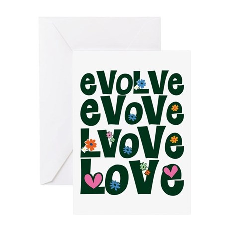 Evolve Whimsical Love Greeting Card