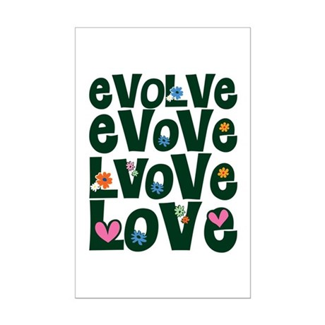 Evolve Whimsical Love Mini Poster Print