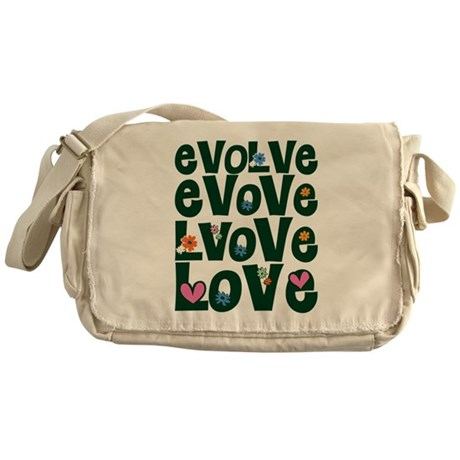 Evolve Whimsical Love Canvas Messenger Bag