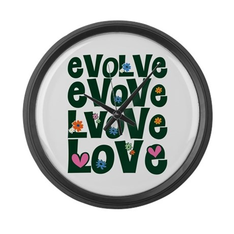Evolve Whimsical Love Large Wall Clock