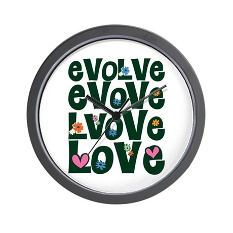 Evolve Whimsical Love Wall Clock