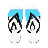Penguins Design Flip Flops