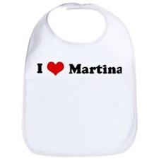 I Love Martina Bib