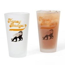 TEAM Honey Badger Vintage Drinking Glass