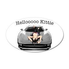 XJ220 Helloooo Kittie 38.5 x 24.5 Oval Wall Peel
