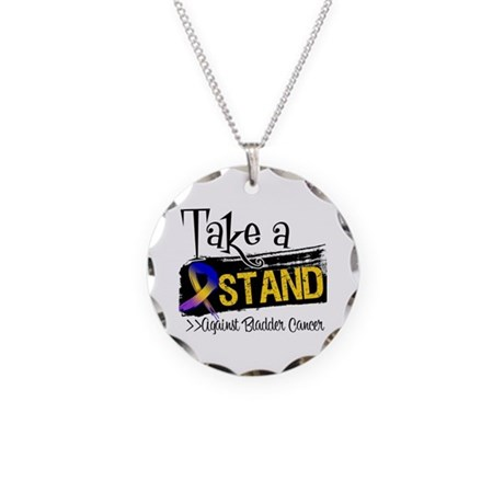 Take a Stand Bladder Cancer Necklace Circle Charm
