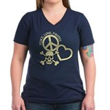 Peace,Love,Pirates Shirt