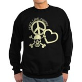 Peace,Love,Pirates Sweatshirt