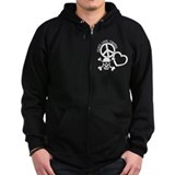 Peace,Love,Pirates Zip Hoodie