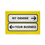 My Gender vs Your Business Rectangle Magnet (100 p