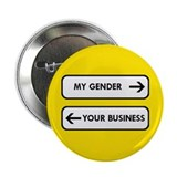 My Gender vs Your Business 2.25&quot; Button (100 pack)