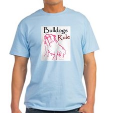 Bulldogs Rule Pink/Ash Grey T-Shirt