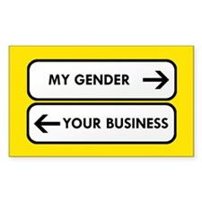 My Gender vs Your Business Decal