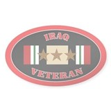 Iraq Veteran 3 Stars Decal