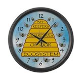Beekeepers Large Wall Clock