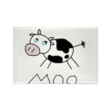 Moo Cow Rectangle Magnet (100 pack)