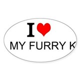 I Love my Furry Kids - Bumper Decal