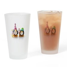 Birthday Party Penguins Drinking Glass