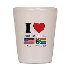 USA-SOUTH AFRICA Shot Glass
