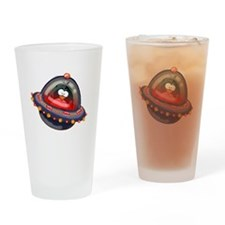 Evil Space Penguin Drinking Glass