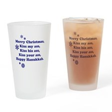 Merry Christmas -- Drinking Glass