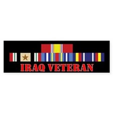 Iraq Veteran 1 Star Bumper Sticker