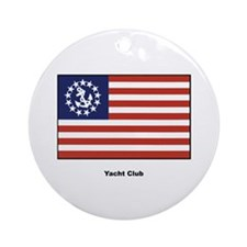 Yacht Club Flag Ornament (Round)