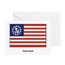 Yacht Club Flag Greeting Cards (Pk of 10)