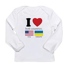 USA-UKRAINE Long Sleeve Infant T-Shirt