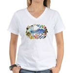 Nature Watercolor Women's V-Neck T-Shirt