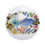Nature Watercolor Ornament (Round)