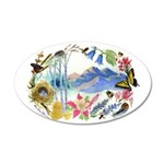 Nature Watercolor 38.5 x 24.5 Oval Wall Peel