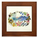 Nature Watercolor Framed Tile