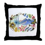 Nature Watercolor Throw Pillow