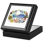 Nature Watercolor Keepsake Box