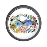 Nature Watercolor Wall Clock