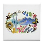 Nature Watercolor Tile Coaster