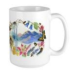 Nature Watercolor Large Mug