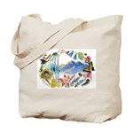 Nature Watercolor Tote Bag