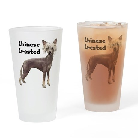 Chinese Crested Drinking Glass