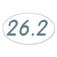 Running Life Lessons - 26.2 Oval Decal
