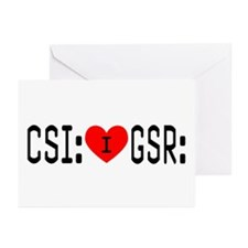 I LOVE CSI & GSR Greeting Cards (Pk of 10)