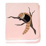 Sleepy Red Panda baby blanket