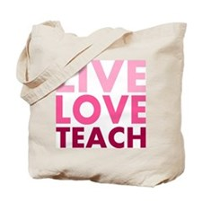 Live Love Teach Double-sided Tote Bag