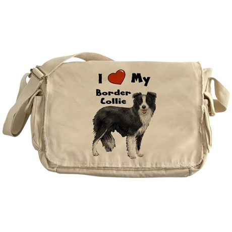I Love My Border Collie Messenger Bag